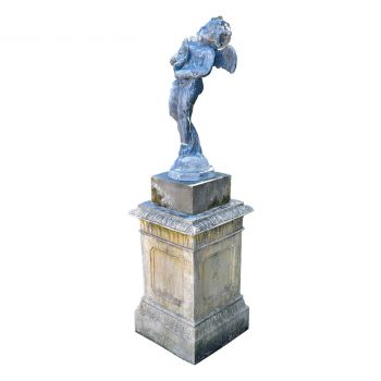 Lead Cupid on Plinth