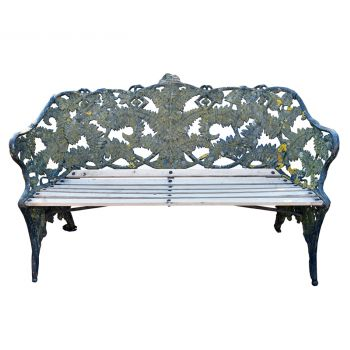 Antique  Coalbrookdale Fern and Blackberry Garden Bench
