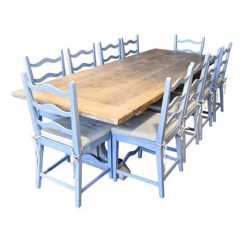 Oak Table and 10 chairs