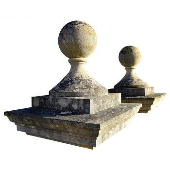 Pair of Antique Ball Finials