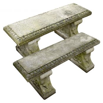 A Pair of Stone Benches